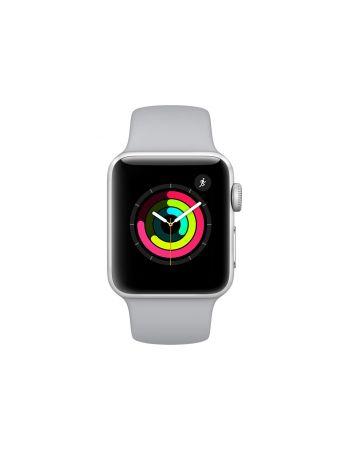 Apple Watch Series 3, 38 мм, корпус из серебристого алюминия, спортивный ремешок дымчатого цвета